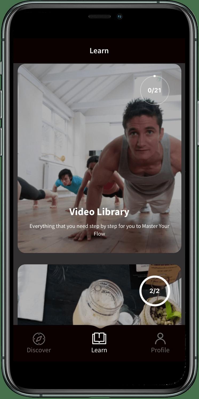 Capoera Flow App Homepage